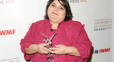 (FILES) This file photo taken on October 29, 2012 shows Honoree Khadija Ismayilova attending the 2012 Courage in Journalism Awards hosted by the International Women's Media Foundation held at the Beverly Hills Hotel, California.    Azerbaijan's top court on May 25, 2016 ordered the release of prominent investigative journalist Khadija Ismayilova, who was jailed on corruption charges last year that triggered an international uproar, her lawyer said. / AFP PHOTO / GETTY IMAGES NORTH AMERICA / Jason Merritt