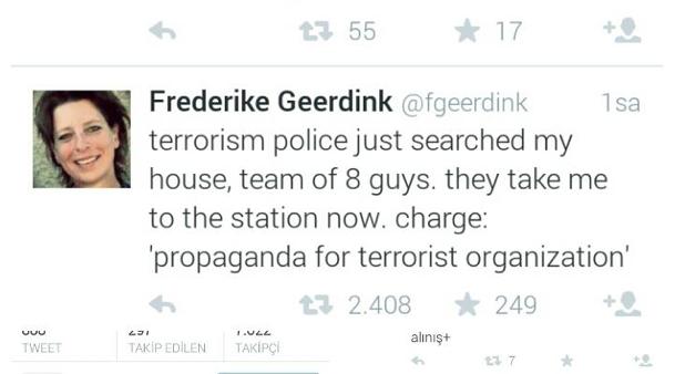 """Dutch journalist arrested in Turkey for """"Twitter terrorism"""