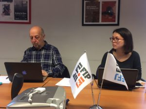 Philippe Leruth (LAREG chair) and Yuklan Wong (EFJ Projects and Policy Officer)