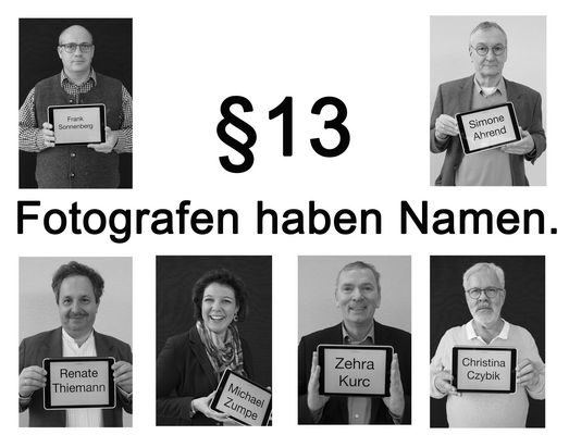 "DJV campaign ""Photographers do have names"": big german newspapers"
